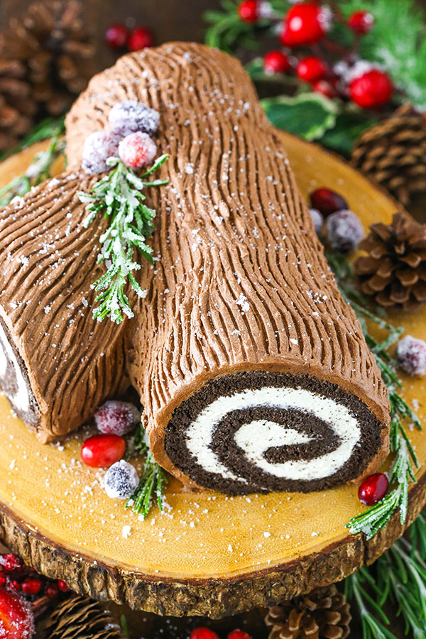 Yule Log Cake - best christmas treats for beginners inspired by movies and books