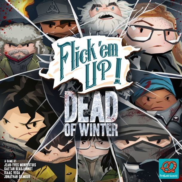 flick em up dead winter - winter themed board game for adults