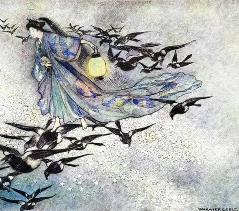 the-star-lovers-warwick-goble-warwick-goble-grace-james Green Willow and Other Japanese Fairy Tales