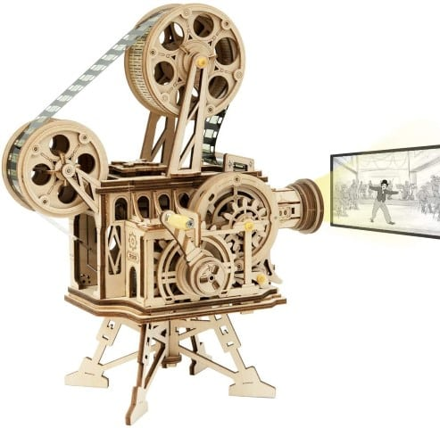 3D Wooden Puzzle Model of Small Movie Projector