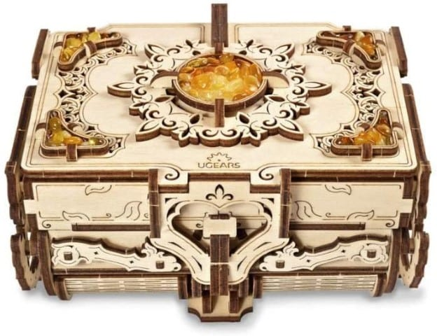 3D Wooden Puzzle with Amber (Small)