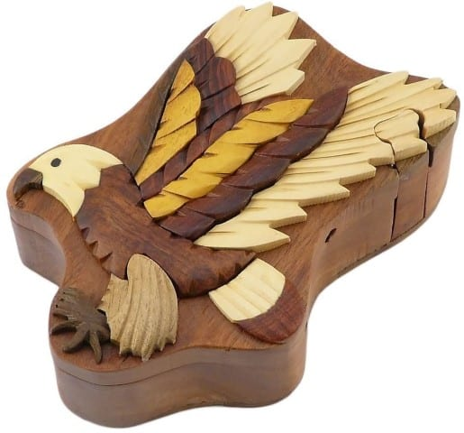 Eagle Handcrafted Wooden Puzzle Box