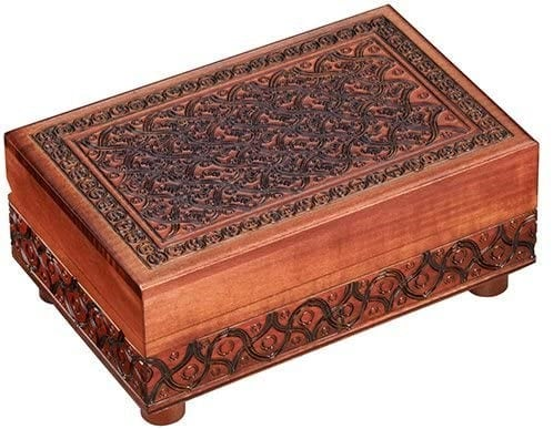 Handmade Wooden Jewelry Puzzle Box (Small)
