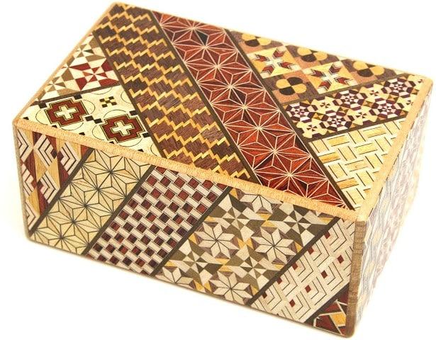 Shin Karakuri Japanese Puzzle Box, Wooden, Handmade