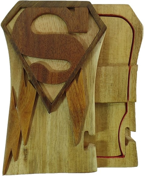 Superman Hand-Carved Puzzle Box