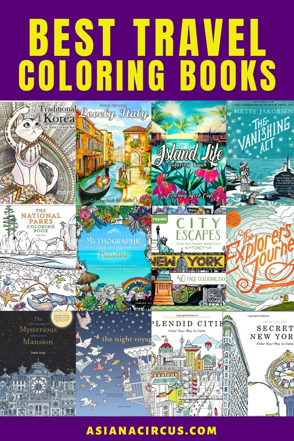 top travel coloring books for adults