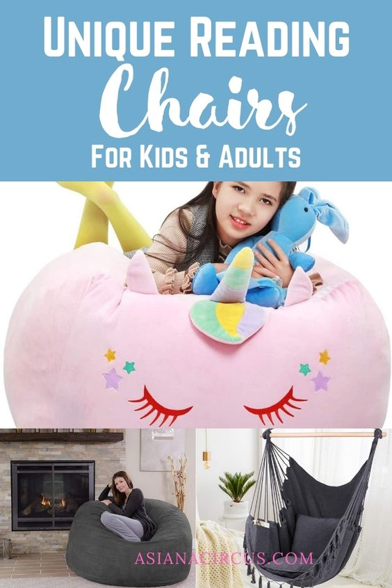 unique reading chairs for adults and kids