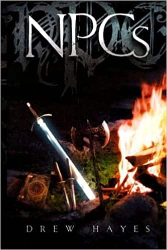 NPCs by Drew Hayes, Adventure fantasy, funny LitRPG book, Published: 2014