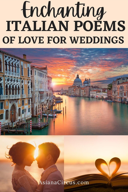 Italian poems of love for weddings