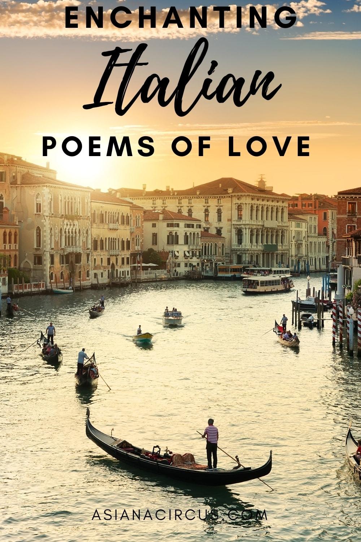 Italian poems of love in english