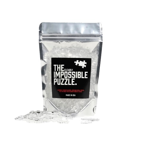 Clear Impossible Jigsaw Puzzle Acrylic Choose 500, 360, 200 or 100 Pieces (Small)