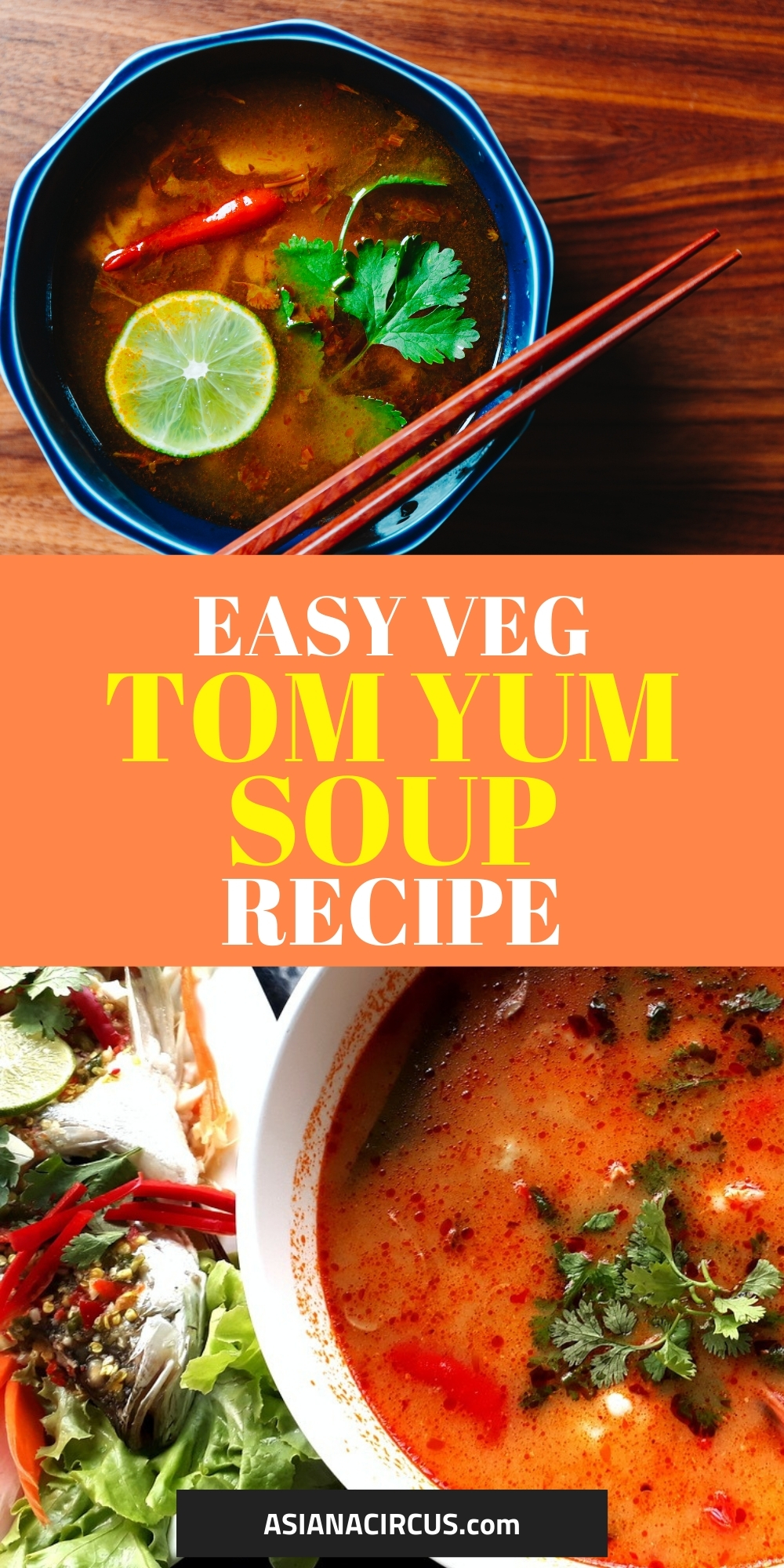 Vegetarian tom yum soup recipe with coconut