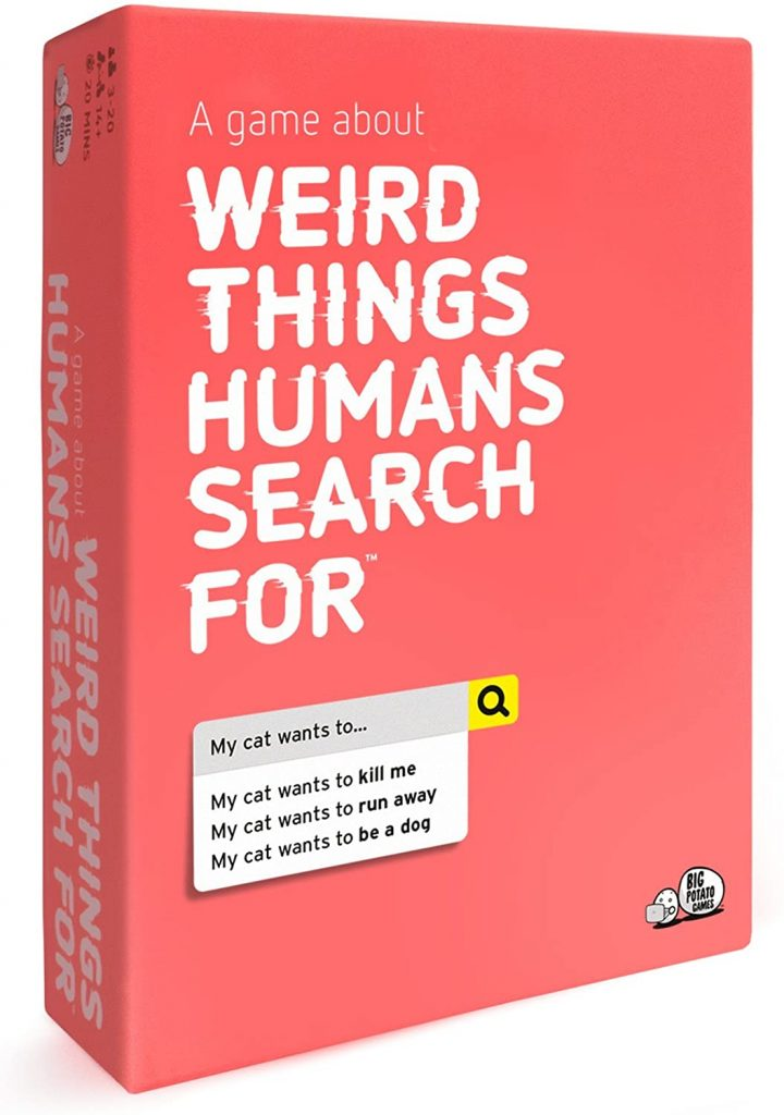 Weird Things An Adult Board Game About The Strange Side Of Google - fun game night ideas