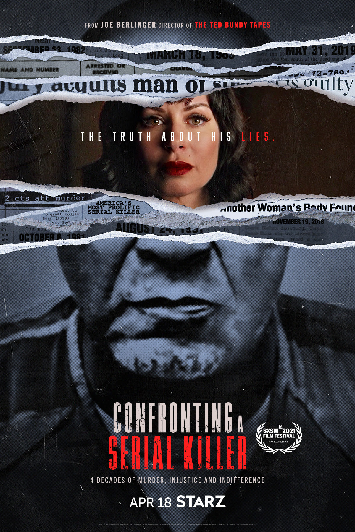 confronting a serial killer - new starz shows