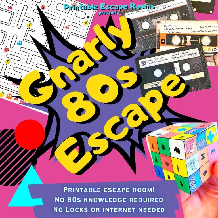 80s Escape Room Game Kit (Medium)