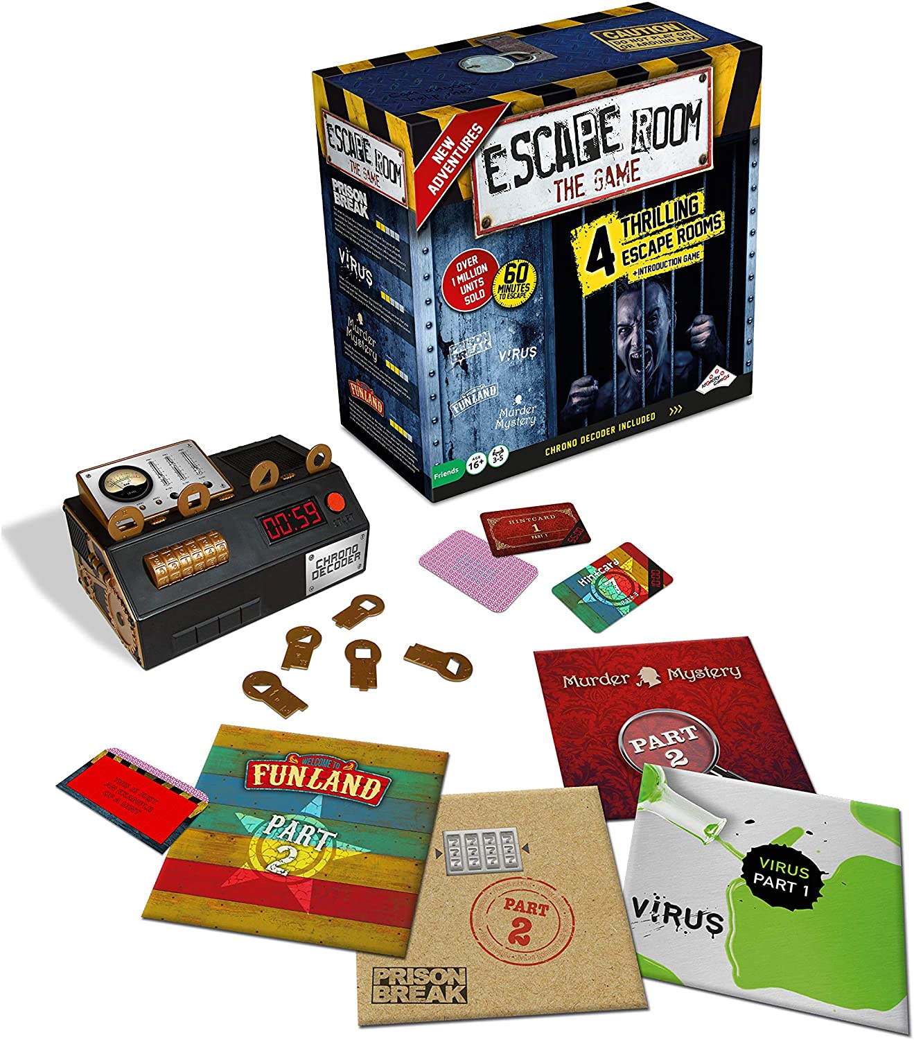 Escape Room The Game, Version 2 - scary escape room kits for families