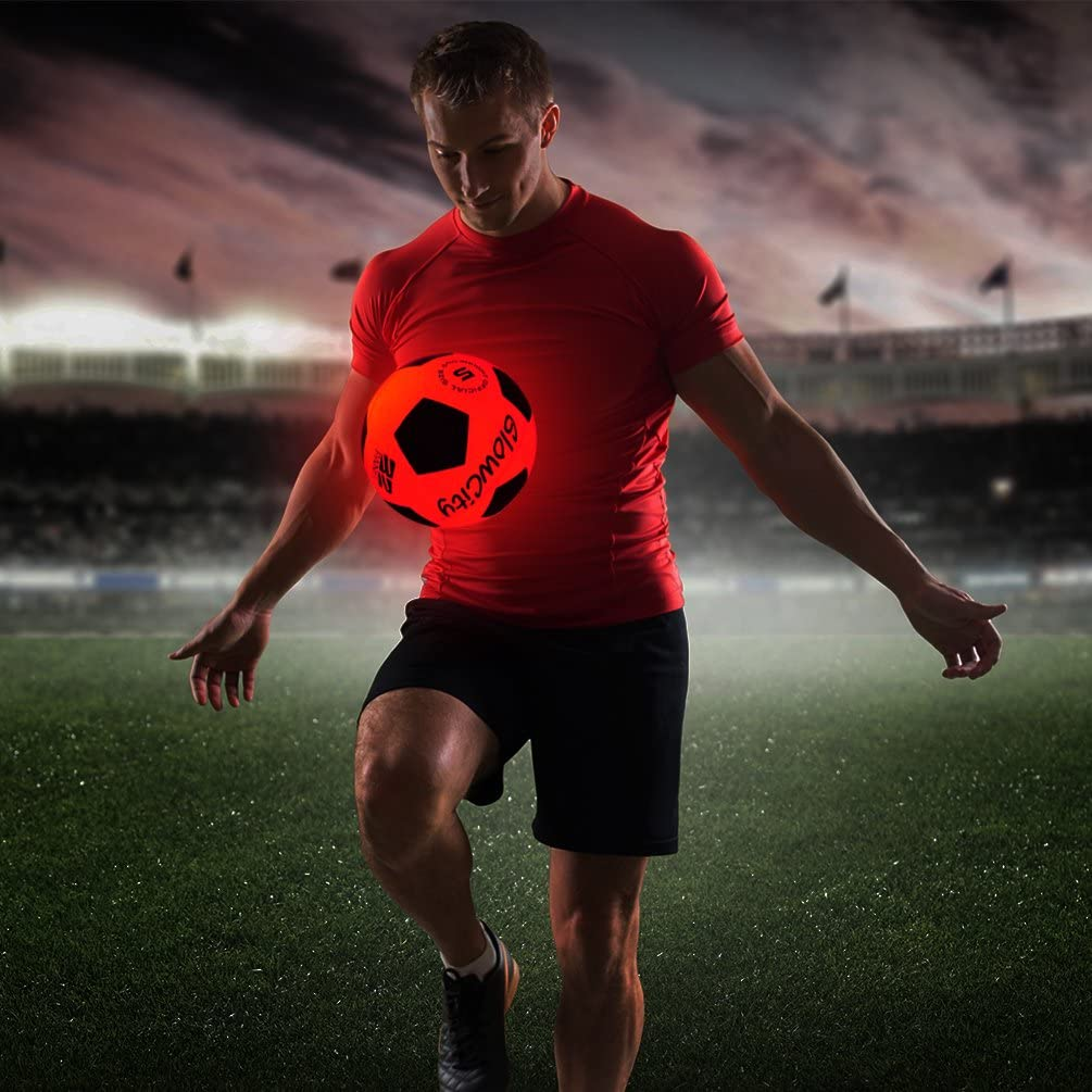 GlowCity Light Up Soccer Ball for adults