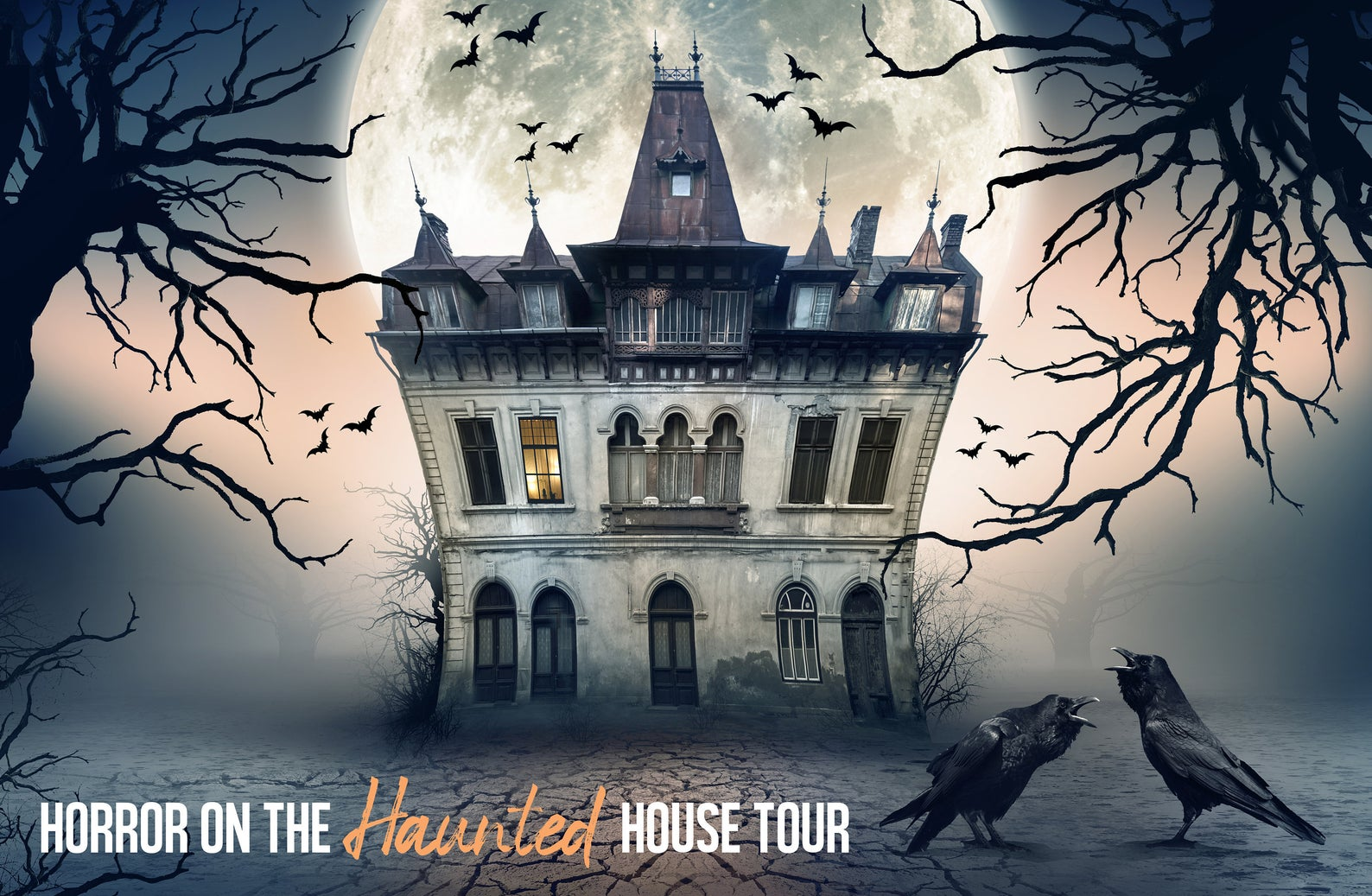 Horror on the Haunted House Tour, Halloween-Themed Murder Mystery Party Game