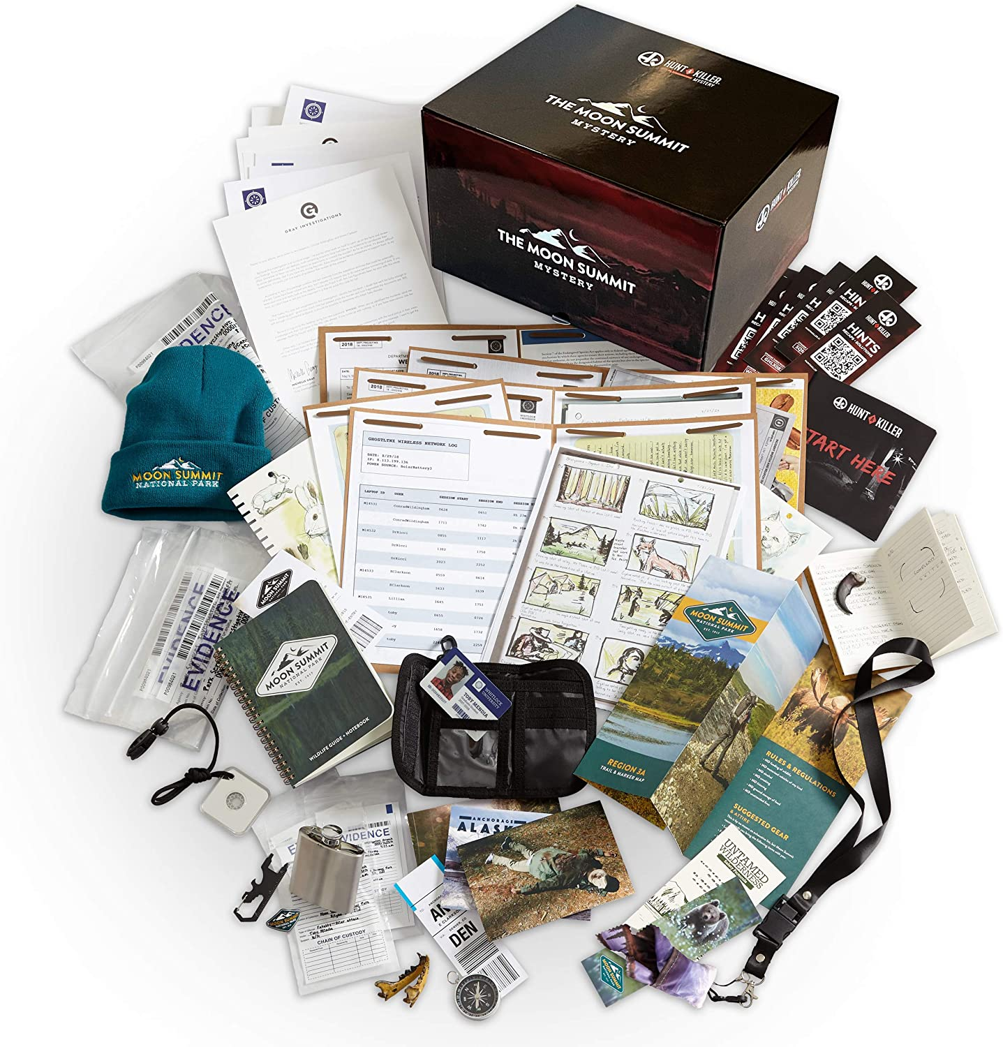 Hunt A Killer The Moon Summit Mystery Complete Box Set - Special Edition Murder Mystery Game