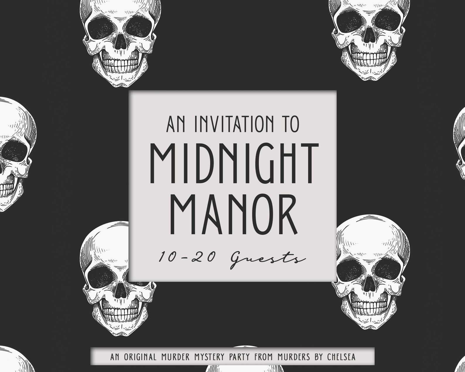 An Invitation to Midnight Manor - Murder Mystery Party