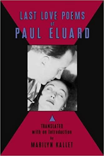Last Love Poems of Paul Eluard french poems of love