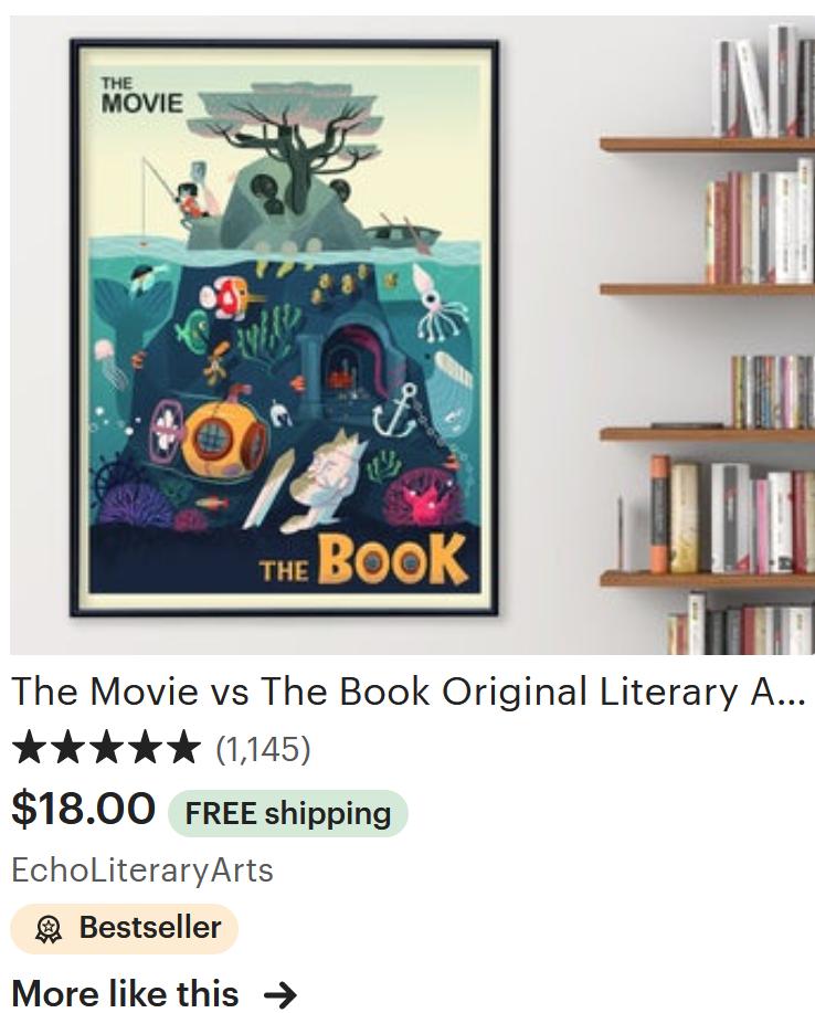 Movie VS Book Poster