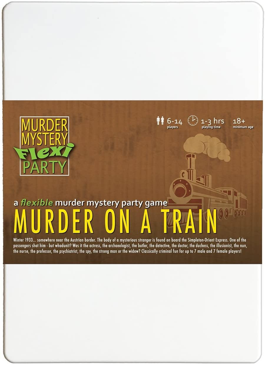 Murder on a Train 6-14 Player Murder Mystery Flexi-Party Dinner Party Game