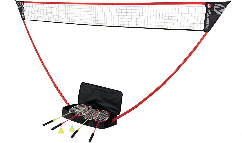 Portable Badminton Set with Freestanding Base