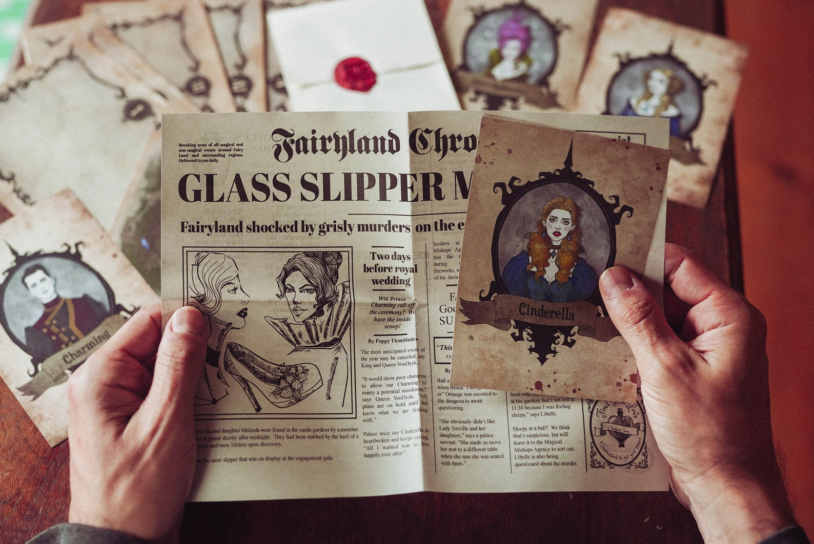 The Cinderella Murders Fairy Tale Files Game and Murder Mystery Game
