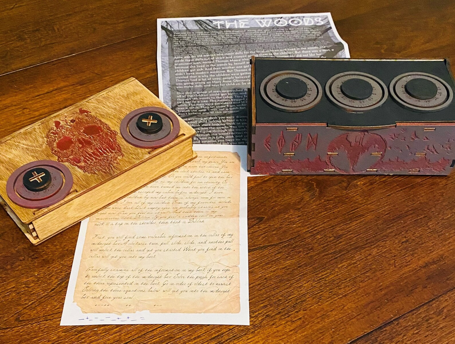 The Woods Campfire Mystery Escape Room Game Kit