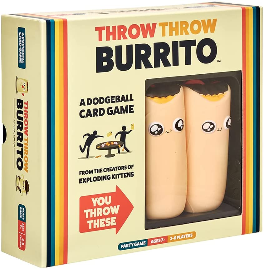 Throw Throw Burrito dodge ball camping card games for adults
