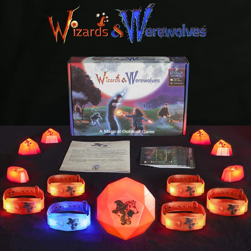 Wizards & Werewolves - an Active Outdoor Group Game with Hide and Seek, Tag and Glow-in-The-Dark Elements