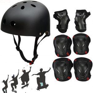 Adjustable Skateboard Skate Helmet with Protective Gear