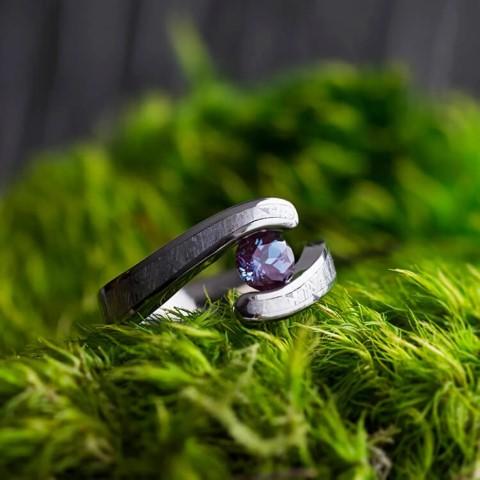 Alexandrite & Meteorite Engagement Rings For Nerds (Small)