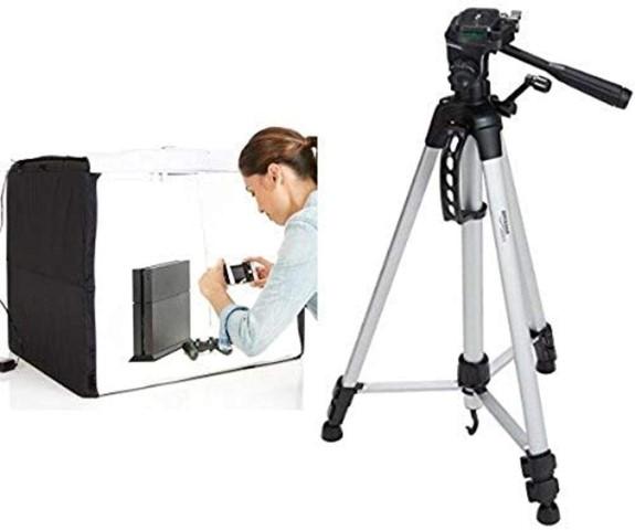 Amazon Basics Portable Foldable Photo Studio Box with LED Light (Small)