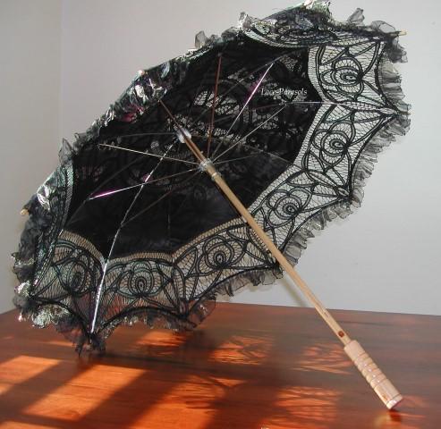 Black Lace Parasol (Small)