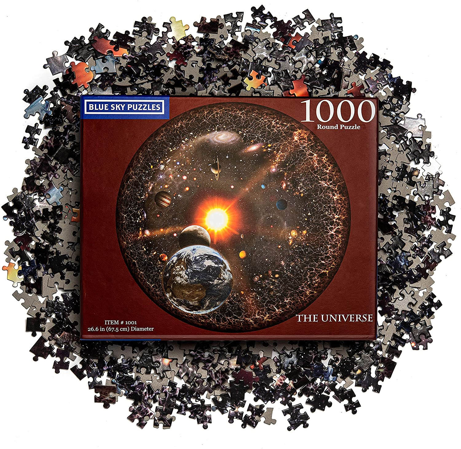 Blue Sky Puzzles 1000 Piece Round Space Jigsaw Puzzle for Adults