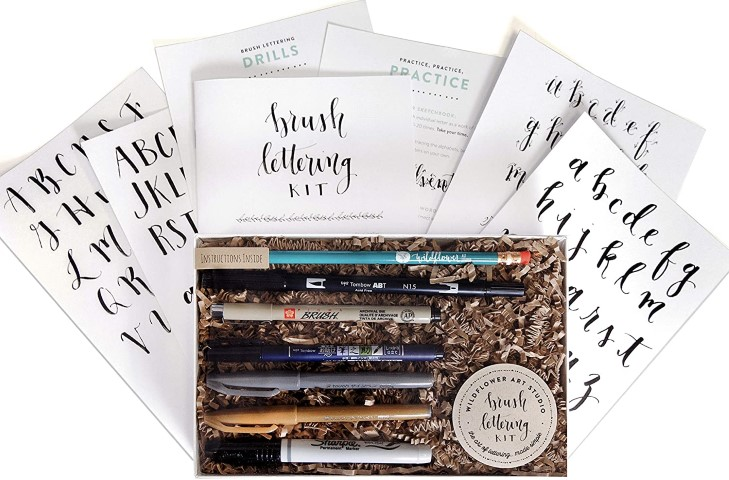 Brush Lettering Calligraphy Kit (Small)