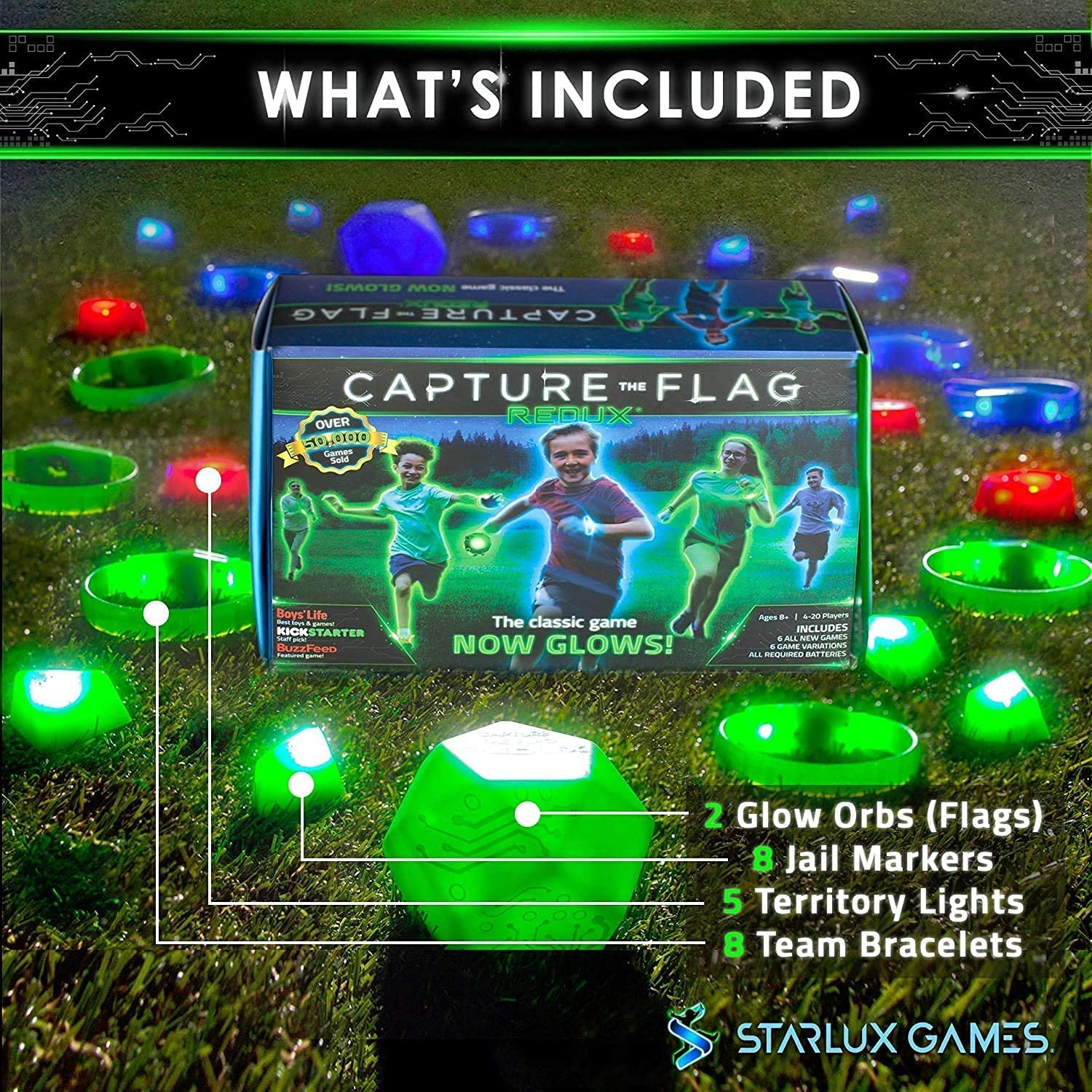 Capture The Flag Redux The Original Glow-in-The-Dark Outdoor Game