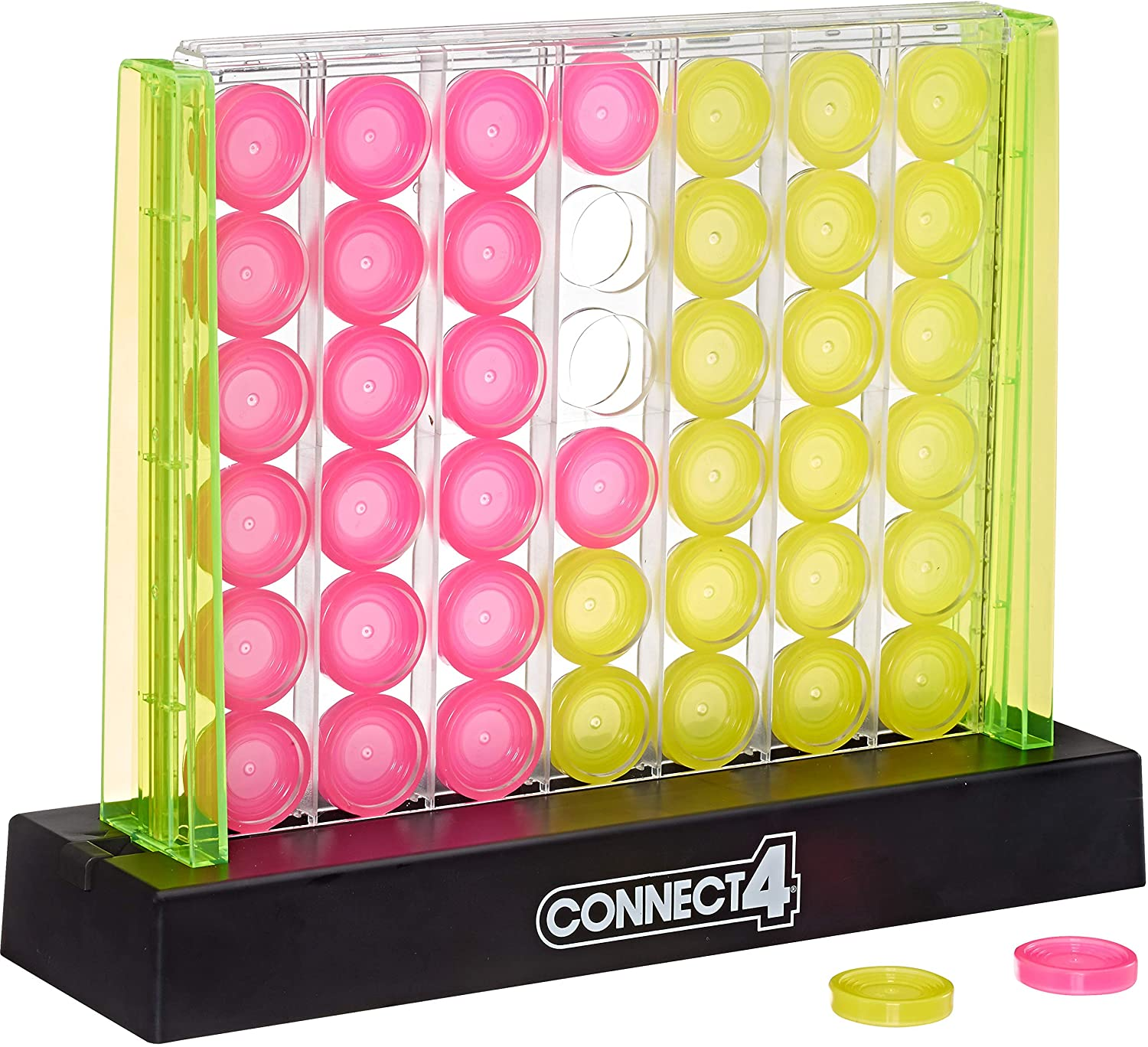 Connect Four Neon Pop Strategy Game