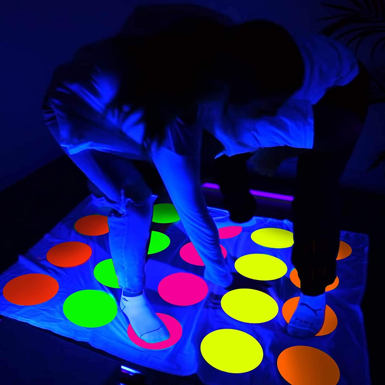 DIY Glow In The Dark Twister