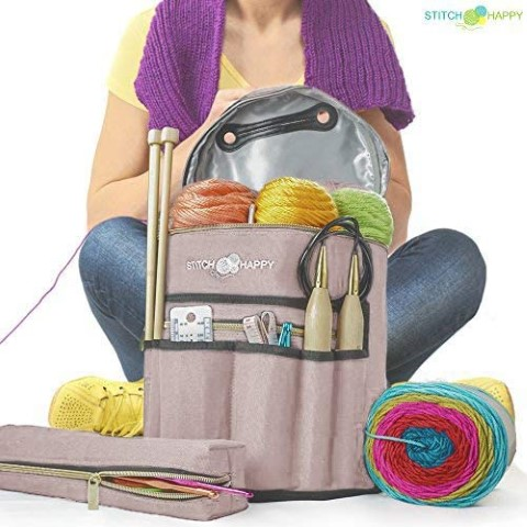 Designer Stitch Happy Knitting Starter Kit - best gifts for crafters (Small)