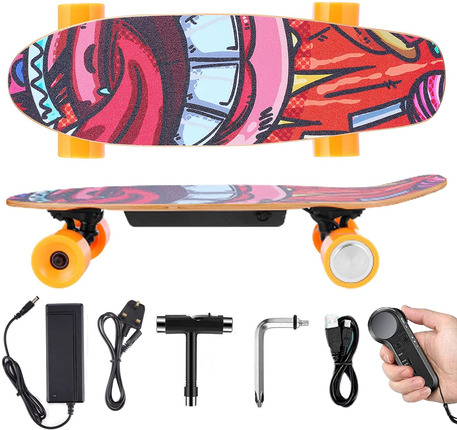 Electric Skateboard with Wireless Remote for kids and teens