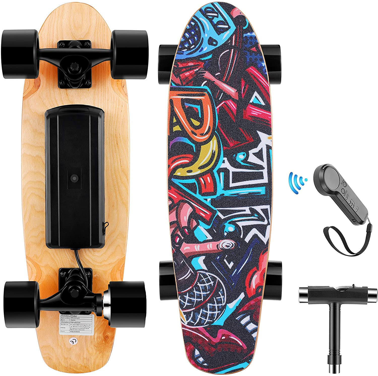 Electric Skateboard with Wireless Remote for kids under 200