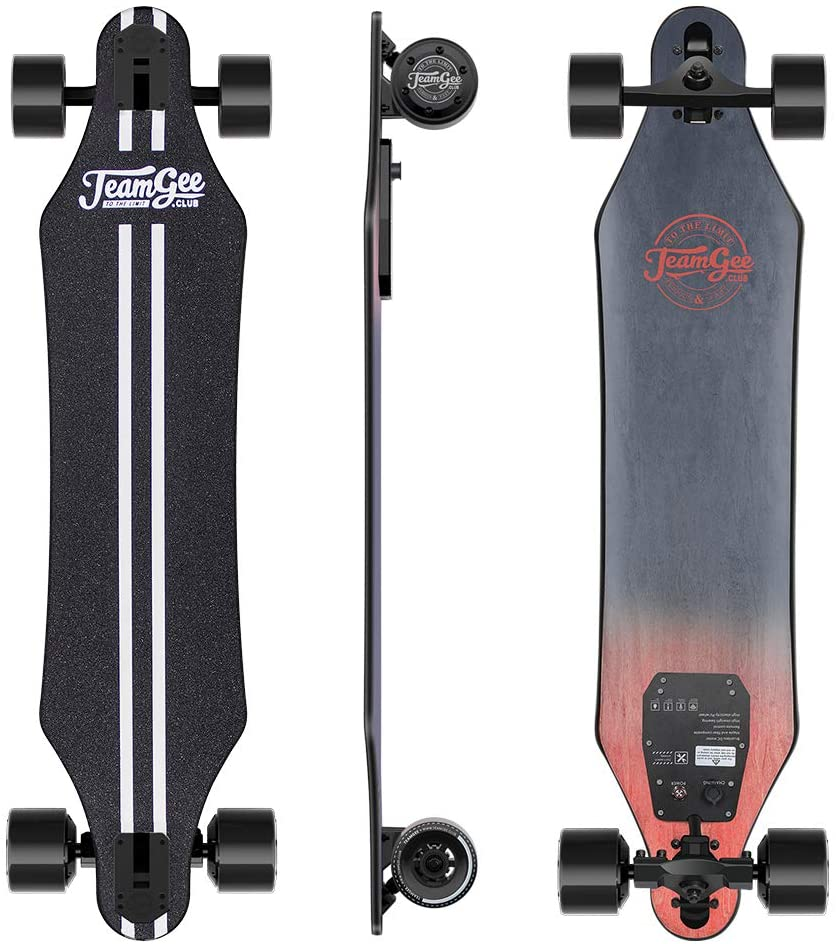 Electric longboard with dual motor and remote for adults