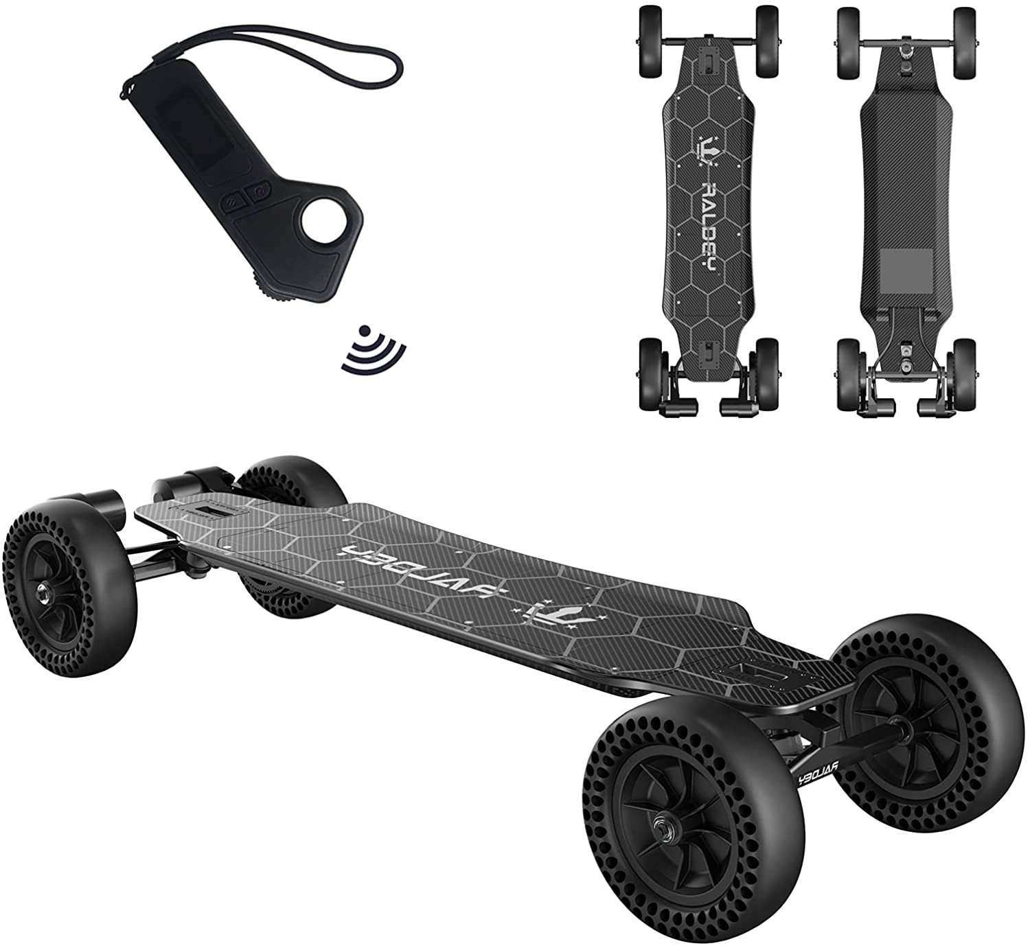 Electric off-road skateboard for adults