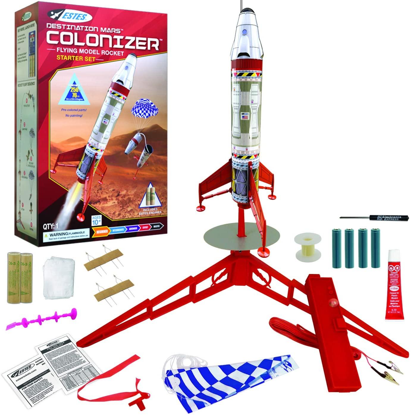 Estes Destination Mars Colonizer Model Rocket Starter Set - Includes Rocket Kit (Beginner Skill Level)