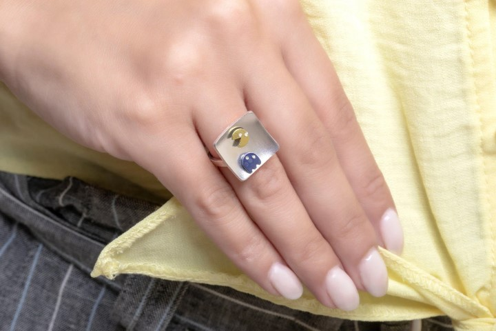 Fun Pac Man Engagement Ring for Gamers (Small)