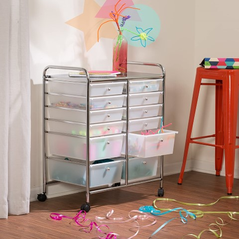 Honey-Can-Do Rolling Storage Cart and Organizer (Small)