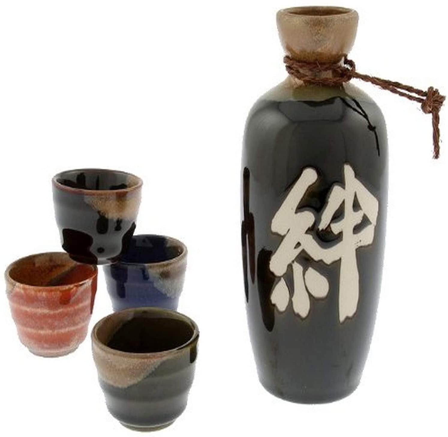Japanese Kanji Calligraphy Sake Set - best souvenirs from Japan